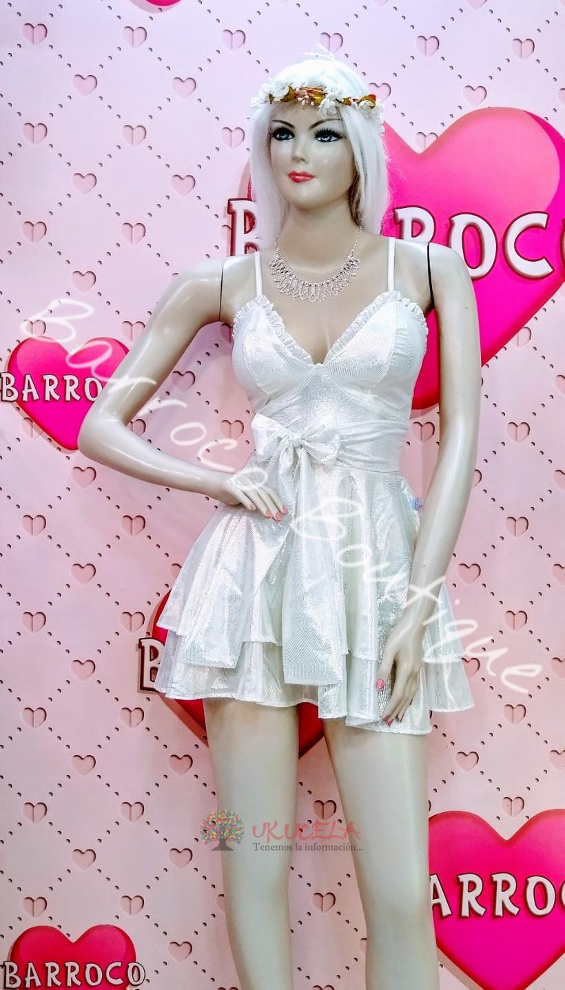Vestido Barroco plateado