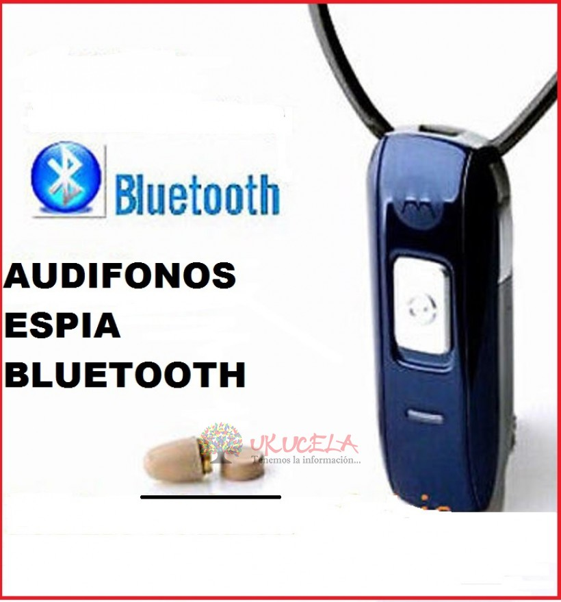 AUDIFONOS ESPIA BLUETOOTH MODELO H670 CON AUDIFONO COLOR PIEL