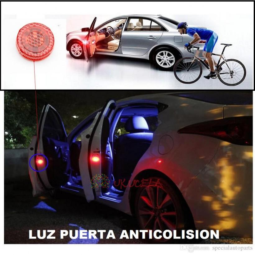 luz led puerta de carro anticolision evite accidentes 02 piezas