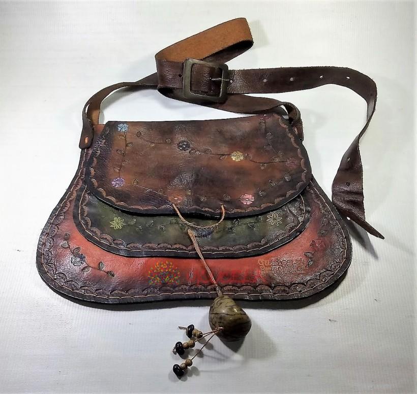Bolso en Cuero artesanal