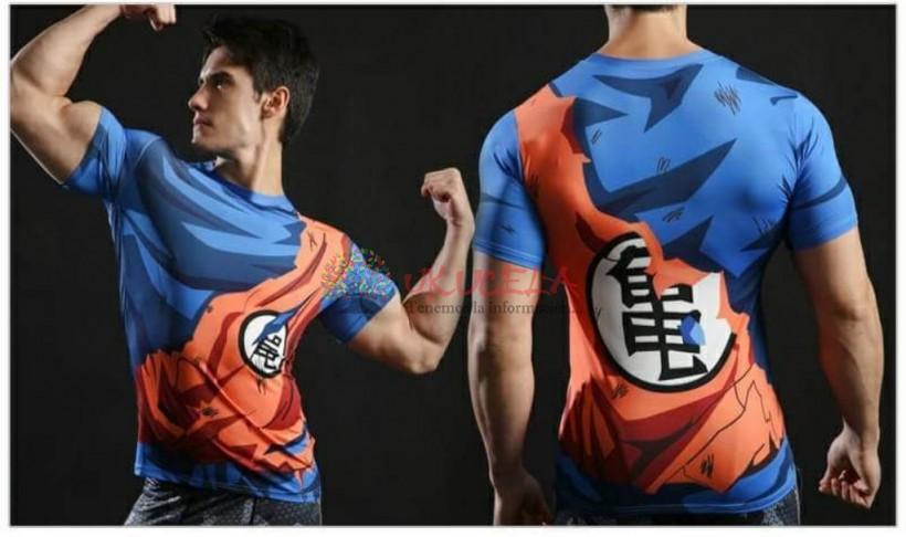 Camisetas De Goku Con Impresion 3d De Entrenamieto