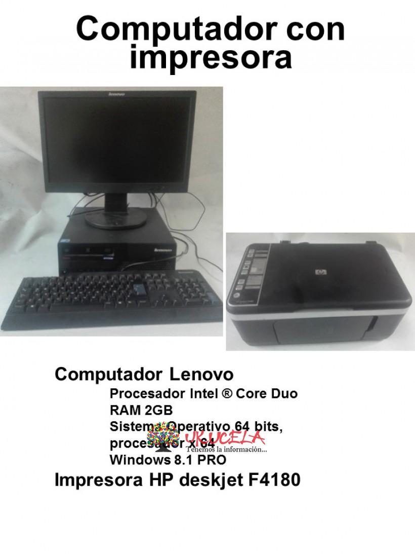 Computador Lennovo con impresora HP
