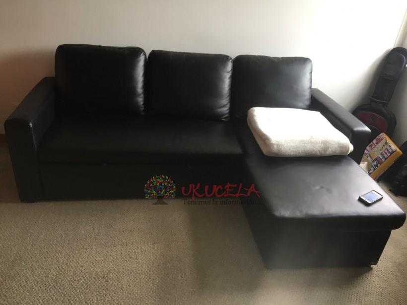 Sofa Cama de Cuero Sintético