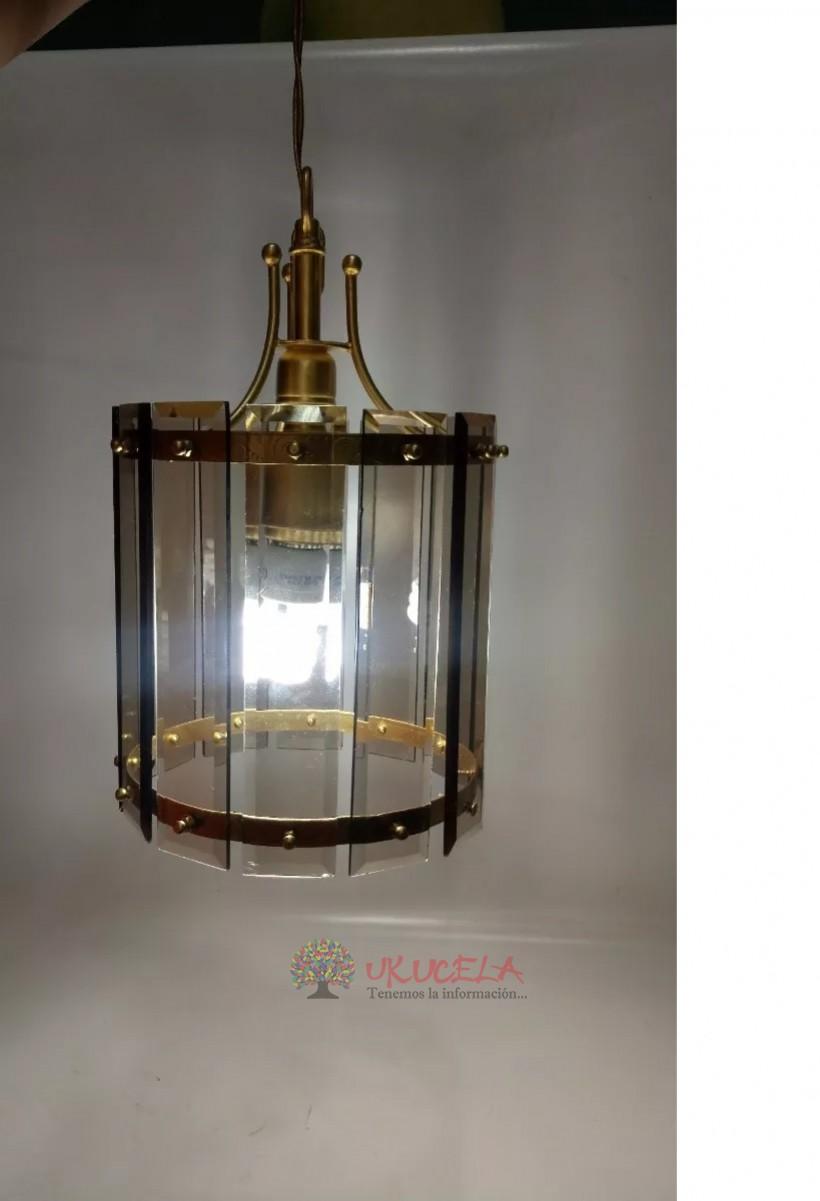 Lampara De Techo Antigua Deco En Cristal Biselado