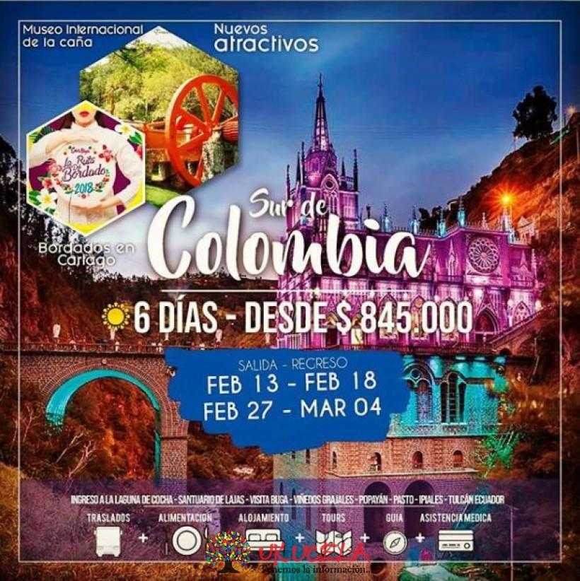 Excursión SUR DE COLOMBIA promoción si viajas en Febrero