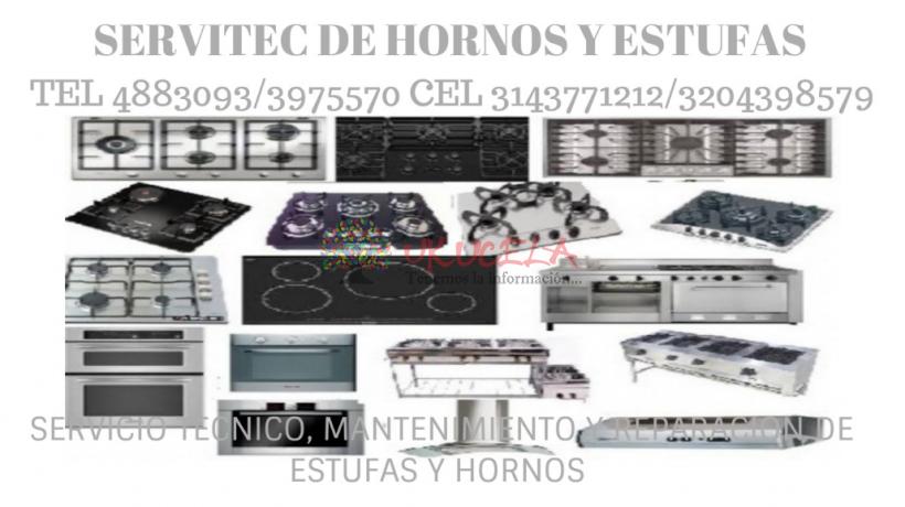 SERVICIO TECNICO ESPECIALIZADO DE ESTUFAS Y HORNOS HACEB TEL 3143771212