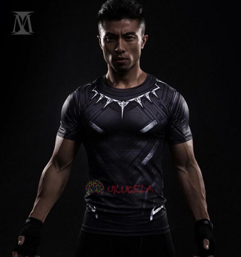 Camisetas De Panter Negra Con Impresion 3D de Compresion