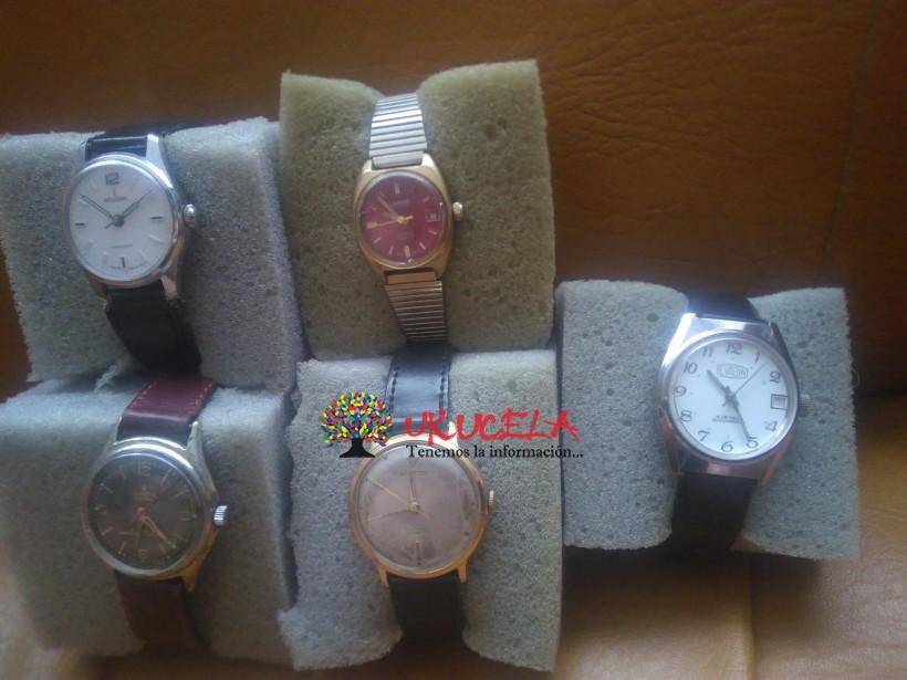 Oferta inmediata 5 relojes suizos auténticos