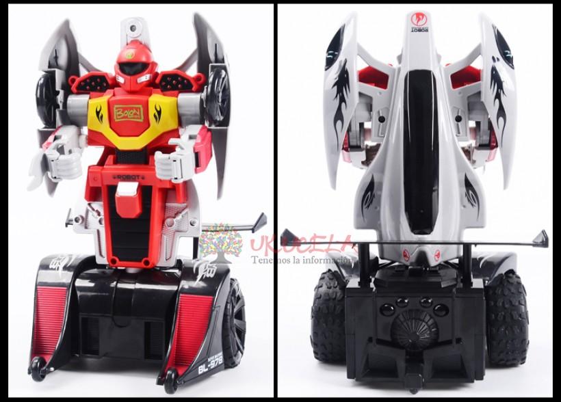 Robot Convertible Automático Color Rojo Y Blanco.