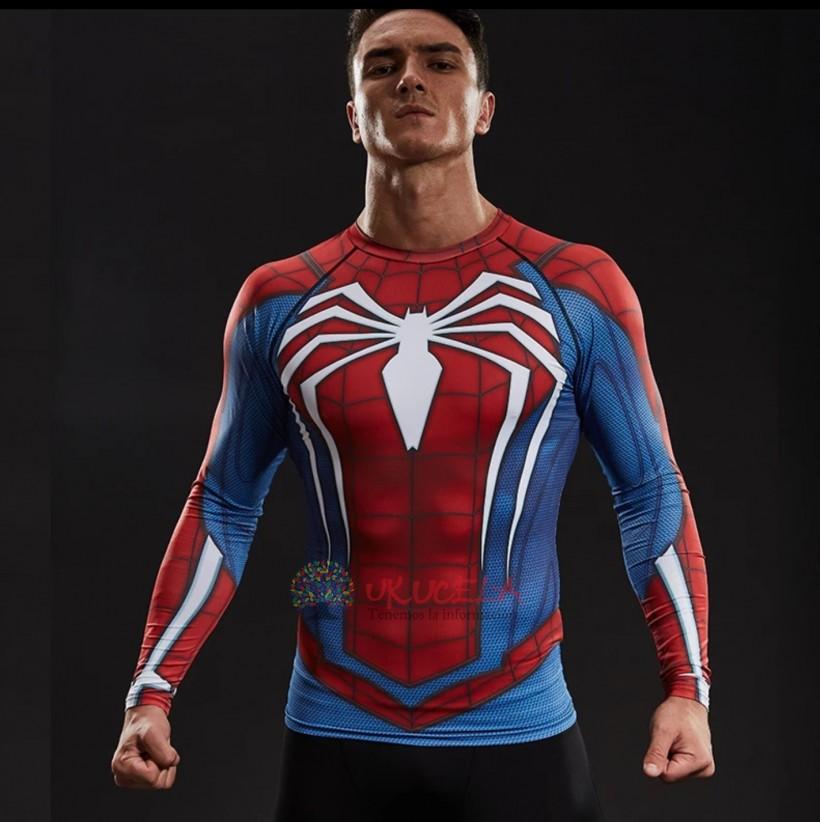 Camisetas De Spiderman Manga L Con Impresion 3D - Compresion