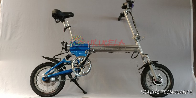 Bicicleta eléctrica plegable en aluminio excelente estado envíos