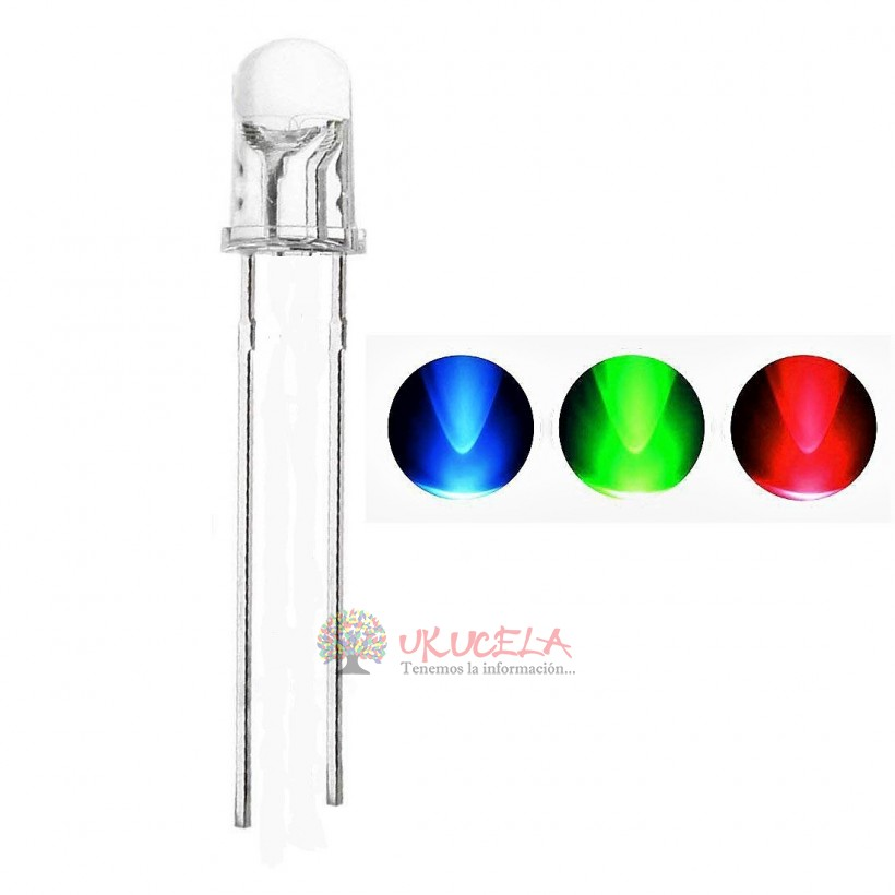Led diodo transparente 5mm colores