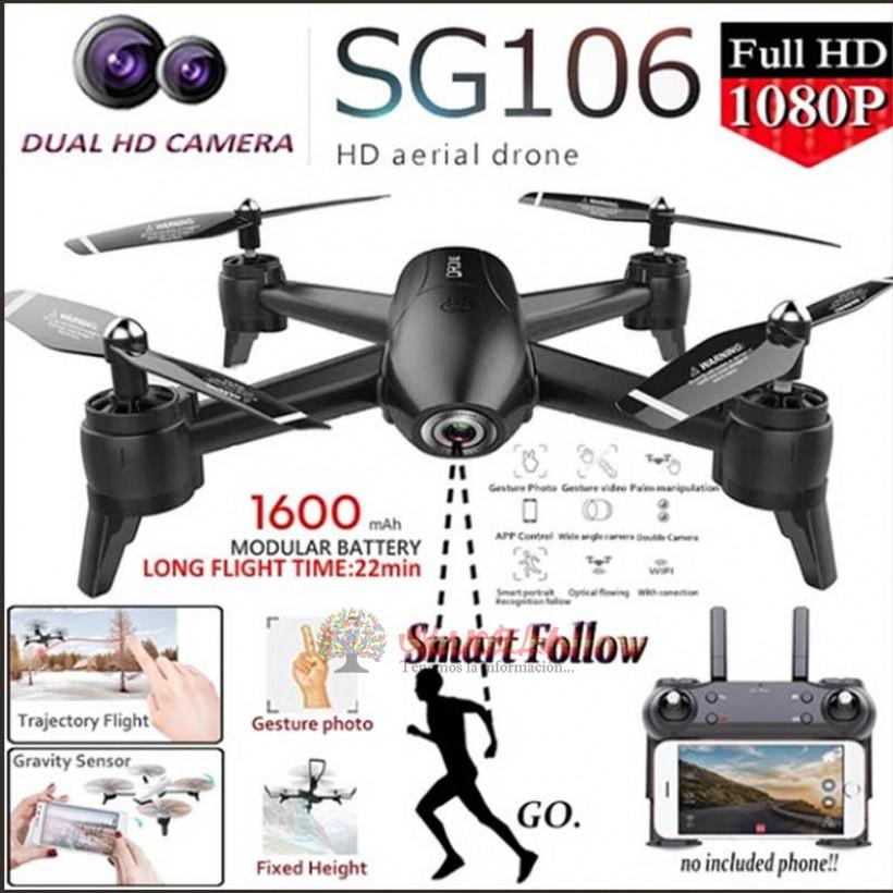 Drone Sg106 Doble Camara Wifi Hd + Sensor Optico