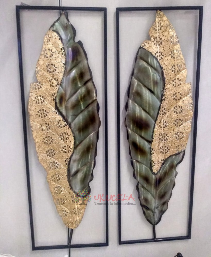 marco con alas enmetal