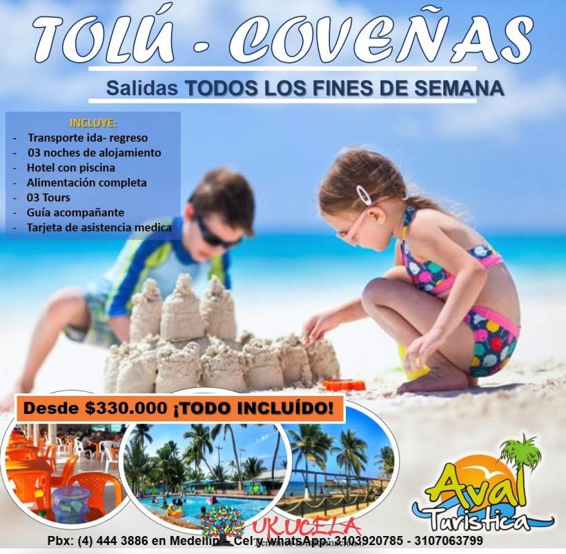Excursiones a Tolú Coveñas todos los viernes del año