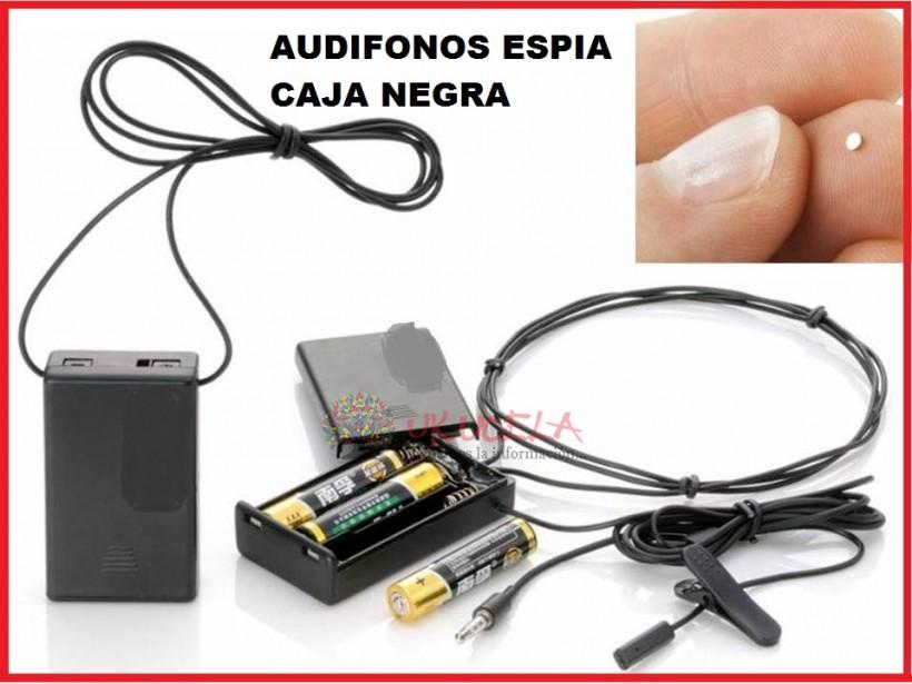 AUDIFONOS ESPIA CAJA NEGRA ENTREGA INMEDIATA