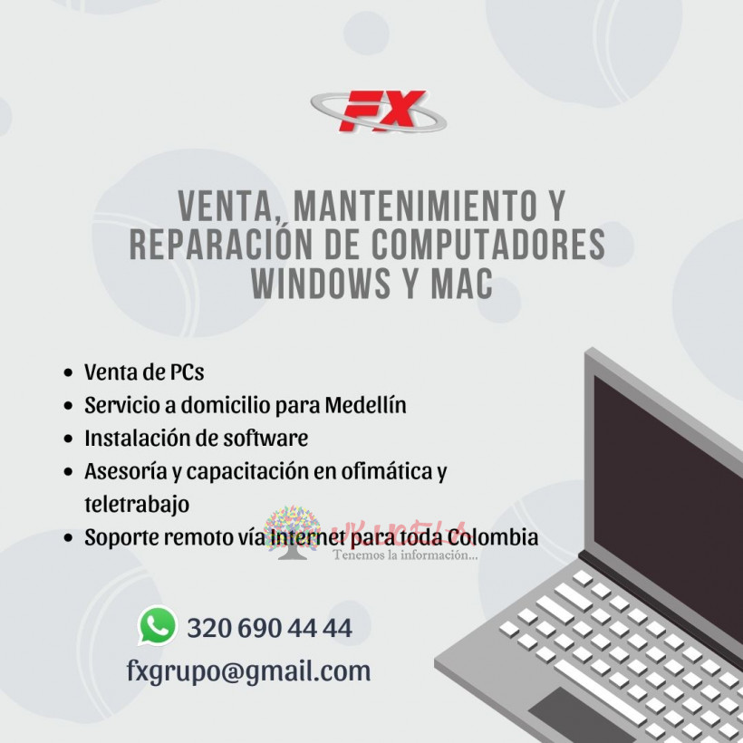 Reparación de computadores Windows y MAC