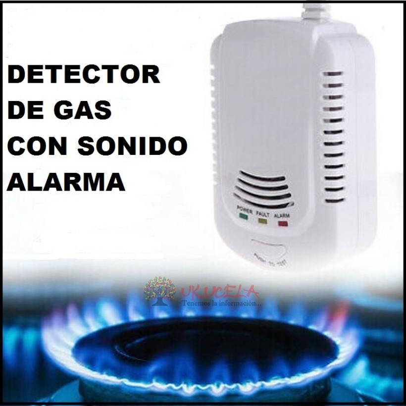 detector de gas natural propano con sonido alarma