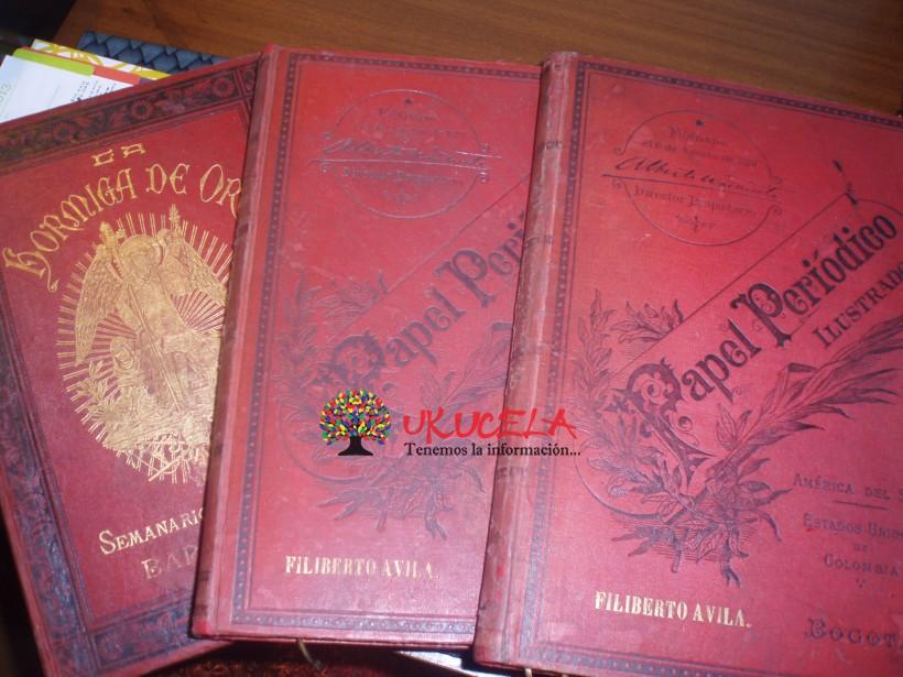 LIBROS PAPEL PERIODICO 1895-1900