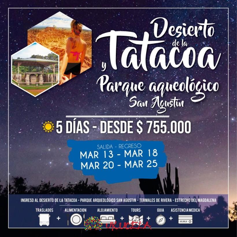 Excursión Desierto de la Tatacoa y San Agustin 05 días