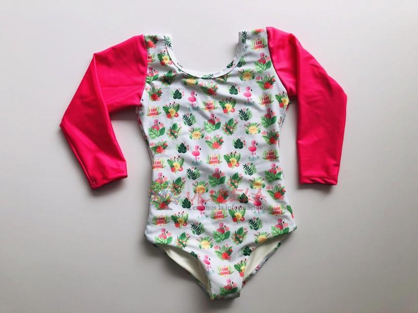 Vestido de baño entero para niña