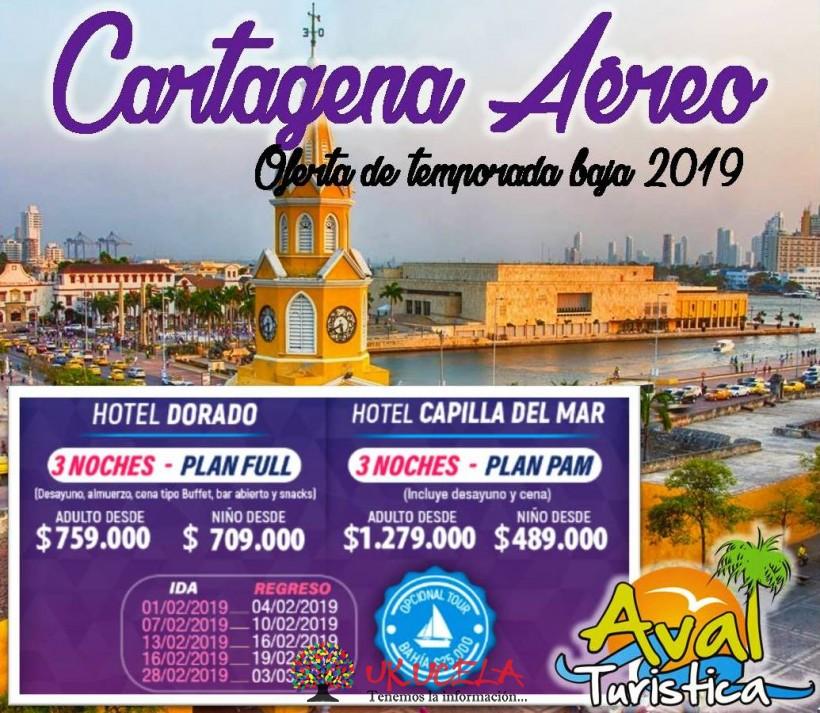 Promoción CARTAGENA AÉREO del 28 de Febrero al 03 de Marzo 2019