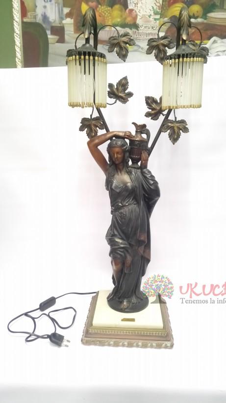 LAMPARA DE MESA ITALIANA MARMOLINA DE NINFA 1950