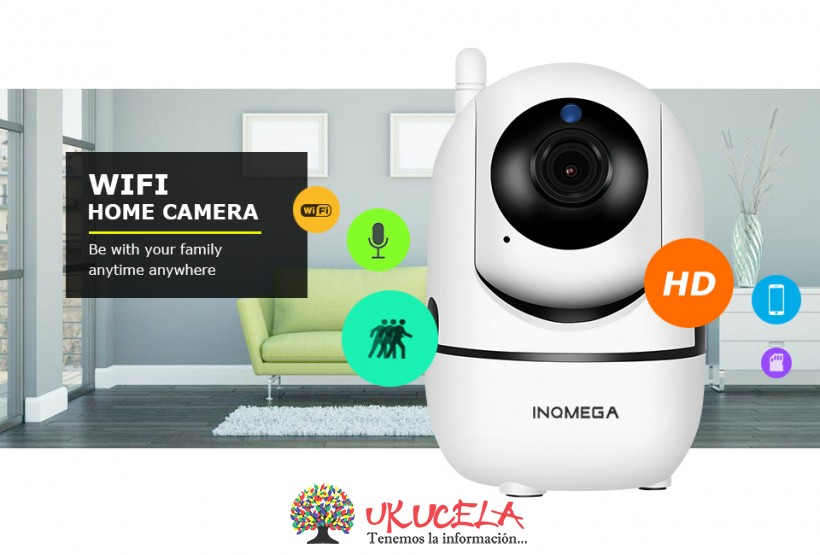 Camara IP Wifi Seguimiento humano HD720P Android.Iphone