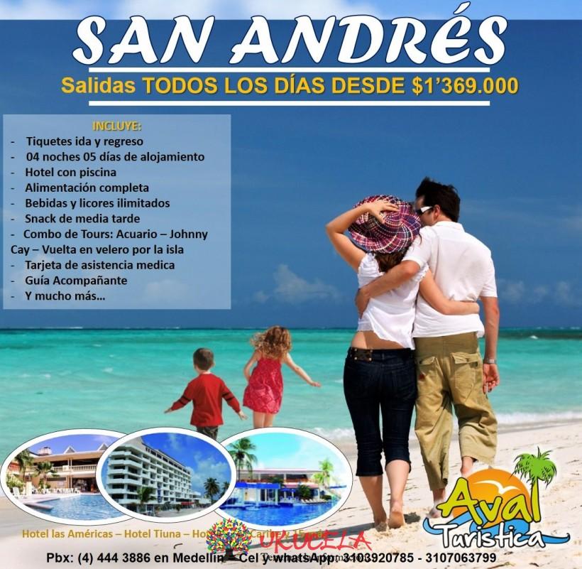 Excursiones a LA ISLA DE SAN ANDRÉS TODOS LOS DÍAS DEL AÑO