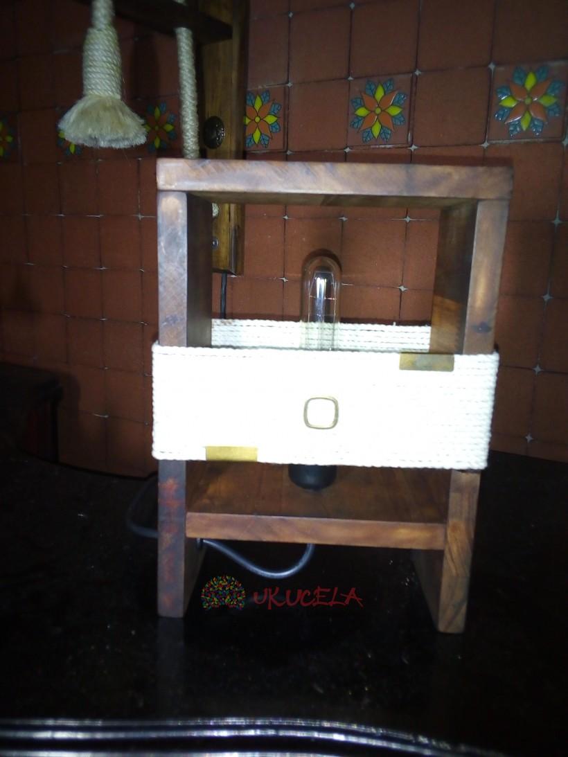 lampara de mesa bombillo edison