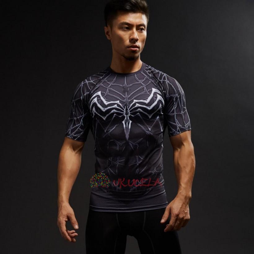 Camisetas De Venom Con Impresion 3D de Compresion