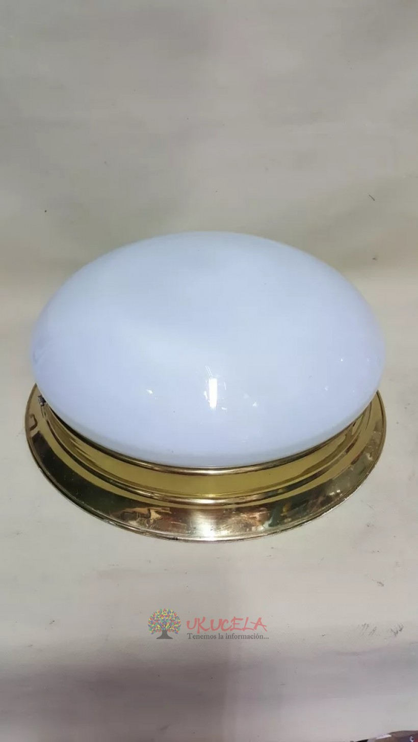 Lampara O Plafon De Techo Antigua Bronce Y Cristal