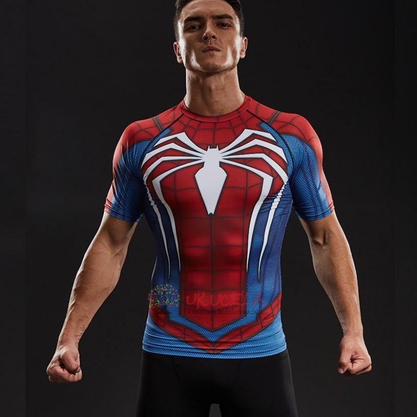 Camisetas De Spiderman Con Impresion 3d - Compresion