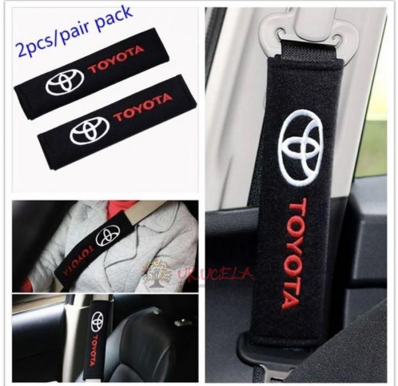 almohadilla o protector de cinturon de seguridad toyota