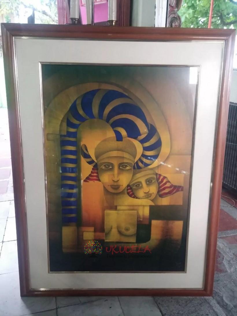 Cuadro De Serigrafia Autor David 92 Tema Egipto Abstracto
