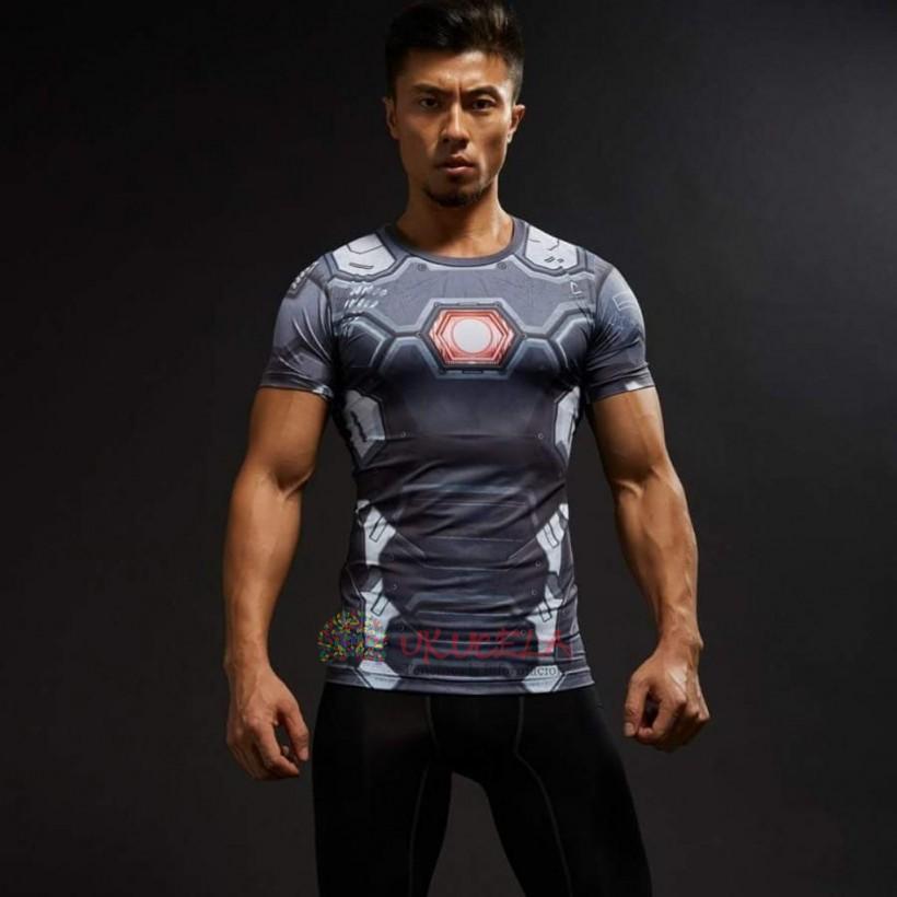 Camisetas De War Machine Con Impresion 3D de Compresion