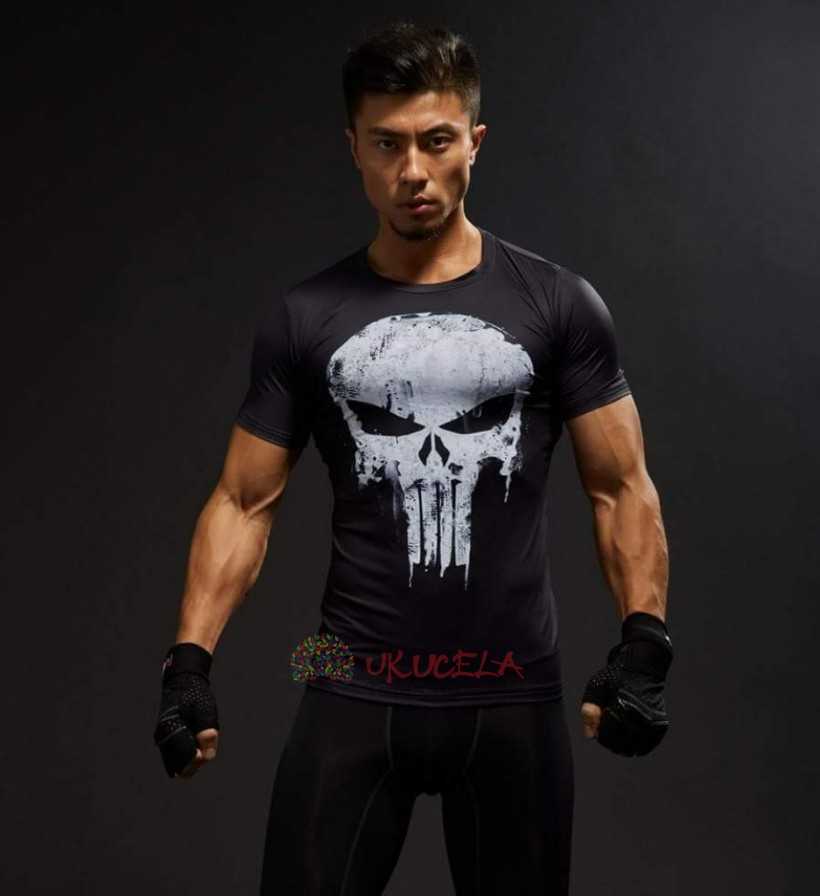 Camisetas De Punisher Con Impresion 3D de Compresion