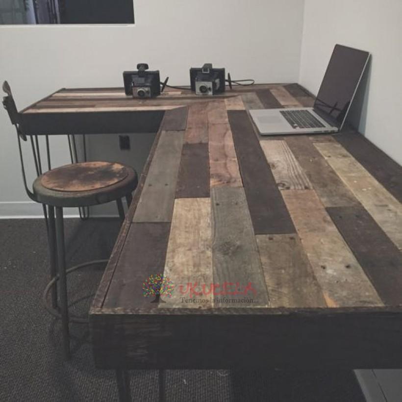escritorio artesanal hermoso madera pino