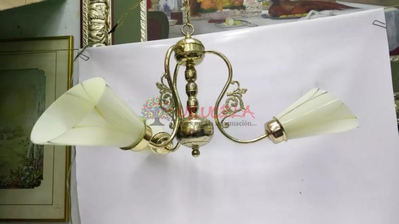 Lampara De Techo Con Baño En Oro Y Cristal Italiana