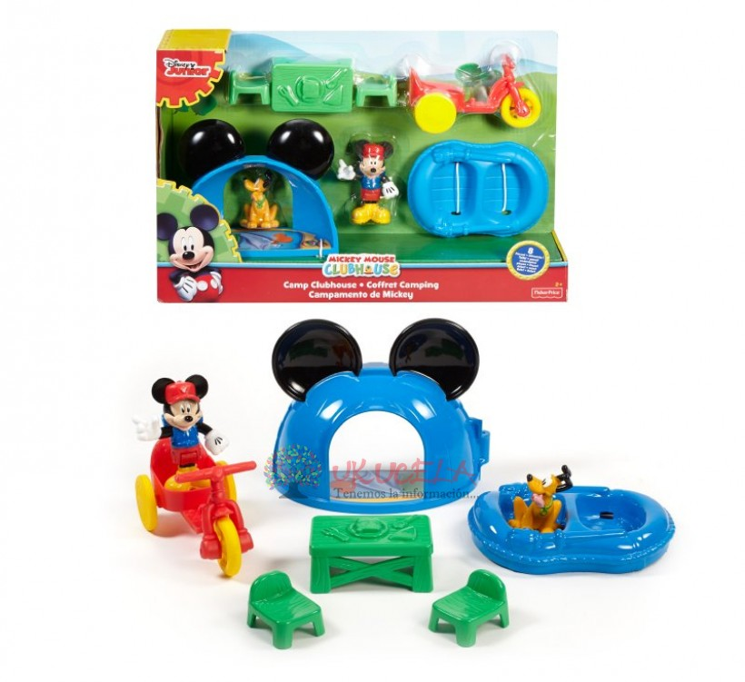 Mickey Campamento Y Accesorios Fisher Price
