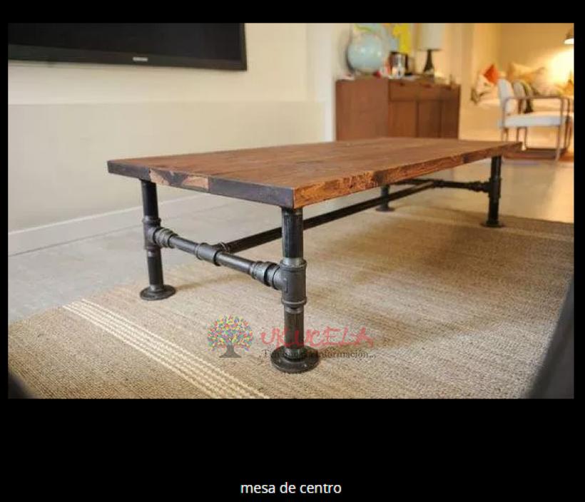 mesa de centro tuberia acero carbon
